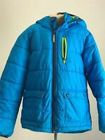 BOYS H&M BLUE DETACHABLE HOOD WARM WINTER COAT JACKET KIDS AGE EUR 146