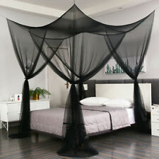 4 Corners Insect Bed Canopy Black Netting Curtain Mosquito Home Decor Bedding