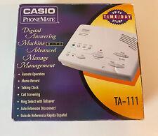 Casio PhoneMate TA-111 Digital Answering Machine 1998 Unused In Box