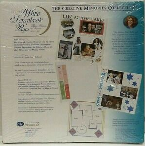 CREATIVE MEMORIES ORIGINAL 12X12 WHITE SCRAPBOOK ALBUM PAGES NEW IN SHRINK WRAP