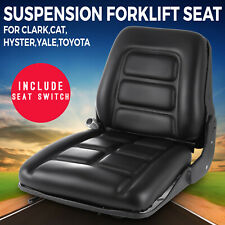Universal Vinyl Forklift Suspension Seat Fits Clark Cat Hyster Yale Toyota