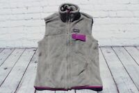 Womens PATAGONIA Gray Full Zip RETOOL Fleece Polartec Vest Small $129