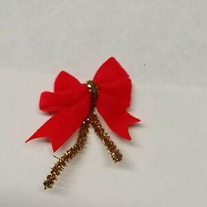 Fiocchi di velluto rossi 40 pz- Decorazioni Albero di Natale / pacchetti regalo