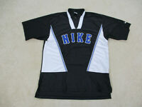 VINTAGE Nike Shirt Adult Large Black Blue Spell Out Logo Basketball Mens 90s