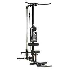 Mirafit Multi Gym Lat Pull Down Machine Seated Cable Row/Arm Curl Back Home Gym