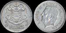 Monnaie Monaco 5 francs 1945 alu (mc13239)