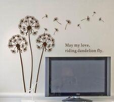 Easy Living Room, Nursery Kids Room Dandelion Decal Wall Sticker Removable Vinyl