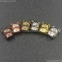 Solid Metal Bulldog Dog Bracelet Connector Charm Beads Silver Gold Copper Bronze
