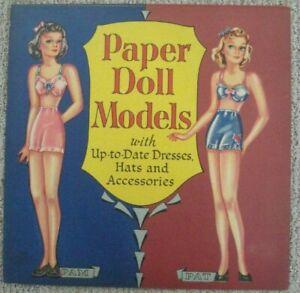 Vintage Paper Doll Model Paper Doll Book  Uncut  1950's