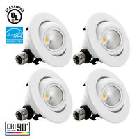 10W 4-inch Dimmable Gimbal Retrofit LED Recessed Light, High CRI, 2700K