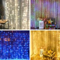 300 LED USB 3m Fairy Curtain String Lights Wedding Party Room Decor Holiday Xmas