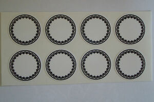 """16  WHTE  STICKERS 1"""" CROWN GREEN BOWLS LAWN BOWLS FLATGREEN  INDOOR BOWLS"""