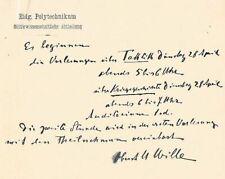 General Ulrich Wille 1848-1925 Autograph Autogramm Schweiz 1. Weltkrieg