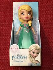 ❄️Disney Princess Elsa Frozen Posable Mini Doll Green dress❄