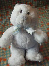 "Russ Berrie blue my first teddy with tatty tag 10"" approx VGC"