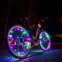 20 LED Bicycle Bike Cycling Rim Lights Wheel Spoke Light String Strip Lamp RF
