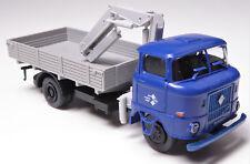H0 IFA W 50 L Pritsche Ladekran IFA mobile DDR Langpritsche blau grau # 88888811