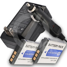 2x Battery + Charger for Sony Cyber-Shot DSC-T90/B DSC-T90/L P T DSC-G3 DSC-T75