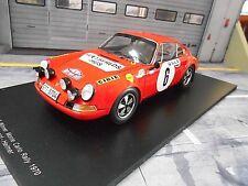 PORSCHE 911 S ST Rallye Monte Carlo 1970 #6 Winner Waldegaard Shell Spark 1:18