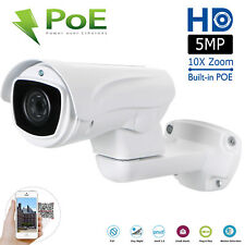 Outdoor PTZ PoE IP Security Bullet Camera 5.0MP 10x Zoom 100m IR Night Vision