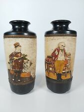 More details for a pair of bretby art pottery dickensian wares vases, no.2963d appr.7.5/19cm tall