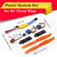 1400KV Brushless Motor 30A  ESC Micro Servo  for RC Fixed Wing Plane Helicopter
