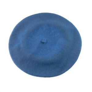 Fashion Women Winter Autumn Wool Blend Beret Cap Solid Color Warm Hat MultiColor