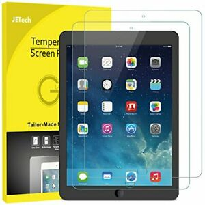 JETech Screen Protector for iPad (9.7-inch, 2018/2017 Model), iPad Air 1, 2-Pack