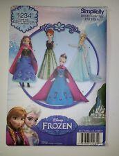"Simplicity 1234 11.5"" Fashion Doll Clothes Disney Frozen"