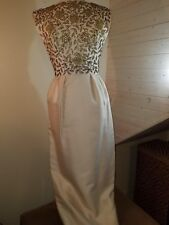 1950's Gorgeous formal fitted elegant evening wear evening dress with beading