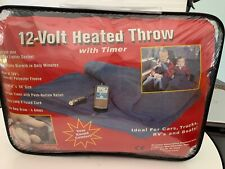 "Car Cozy 2 12-Volt Heated Travel Blanket (Navy, 42"" x 58"") Trillium Worldwide"