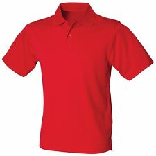Mens Polyester Pique Polo Shirt Golf Sports Breathable Running Training S-5XL