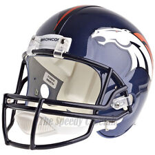 DENVER BRONCOS RIDDELL VSR4 NFL FULL SIZE REPLICA FOOTBALL HELMET