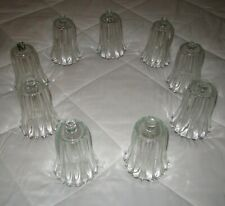 Set of 18=Vintage Clear Glass Candle Votive Cups w/Ribbed & Flared Design Homco
