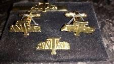 Antar Cufflink Gold plate tie slide +lapel pin set Tank Transporter RCT 3,16,19