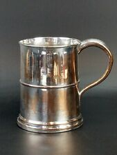 More details for antique georgian sheffield plate on copper tankard