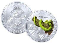 Gambia 1000 Dalasis 2015 UNC Western Green Mamba Snake Commemorative coin