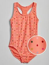 Nwt Gap Kids Girls Swimsuit Swim polka dots peach Size Large 10