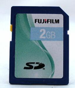 2GB FULL SIZE FUJIFILM SD MEMORY CARD