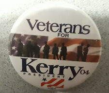 veterans for John Kerry  Button  2004 election