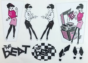 The Beat Sticker Sheet fits Vespa Legshield Record Box Decals Ska, Rude Girl SH2