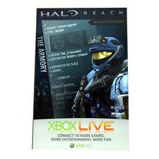 XBox 360 Live Halo Reach Spartan Recon Hemlet Armory Bonus Content Card Code-NEW
