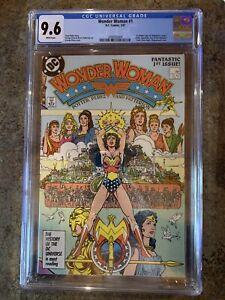 Wonderwoman #1! CGC 9.6! 1987. Movie Coming In July!