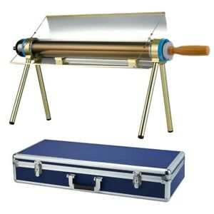 Portable solar Power cooker Evacuated tube Large Modern Oven Stove camping Kit