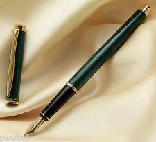 Pelikan P381 Vintara Green 14k Gold Broad Nib Fountain Pen Very Rare New In Box