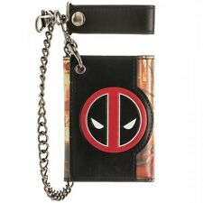 Deadpool Fire Logo Marvel Comics Chain Wallet Nwt