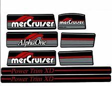 MERCRUISER ALPHA ONE GEN ONE W/ RED RAMS STICKER SET