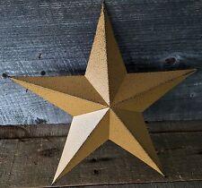 Primitive Metal Barn Star Mustard 12 inch Country Rustic Farm Decor