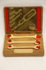 1988 Mac Tools 50th Anniversary Limited Edition 3 Pc Gold Wrench Set