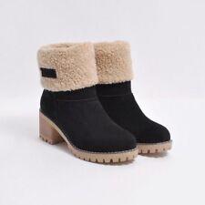 Damen Ankle Boots Stiefeletten Martin Boots Schlupfstiefel Stiefel Winterschuhe
